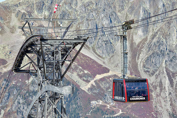 Wall Art - Photograph - Cable Car Mont Blanc by David Pyatt