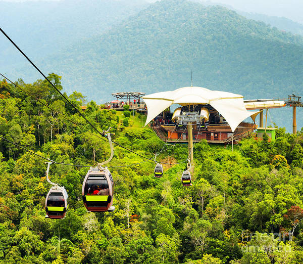 Wall Art - Photograph - Cable Car On Langkawi Island, Malaysia by Efired