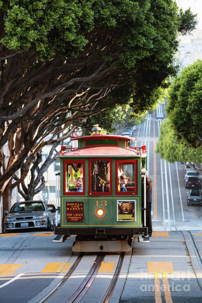 Wall Art - Photograph - Cable Car On The Hills Of San Francisco, California, Usa by Matteo Colombo