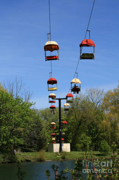 Wall Art - Photograph - Cable Cars At Toronto Island by Susana Ortega