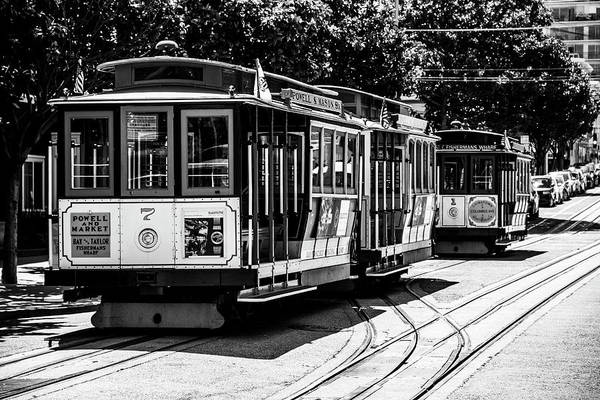 Photograph - Cable Cars by Stuart Manning