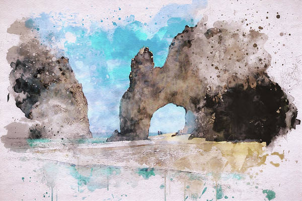 Digital Art - El Arco De Cabo  by Marilyn Wilson