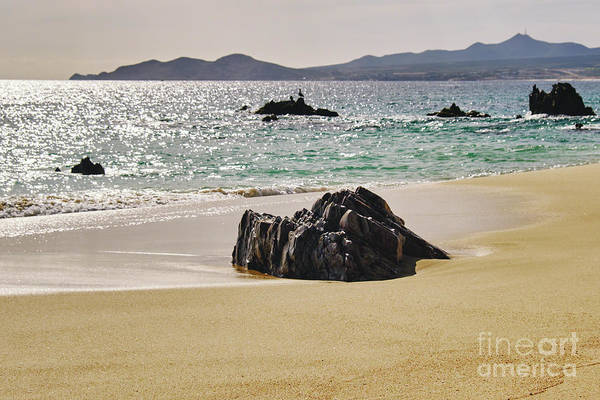 Wall Art - Photograph - Cabo San Lucas Beach With Rock Formations by George Oze