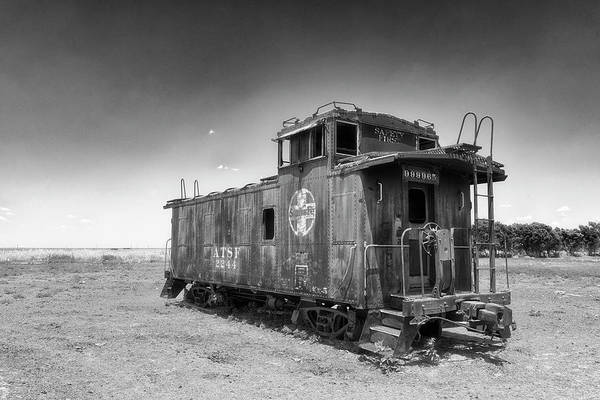 Photograph - Caboose by Russell Pugh