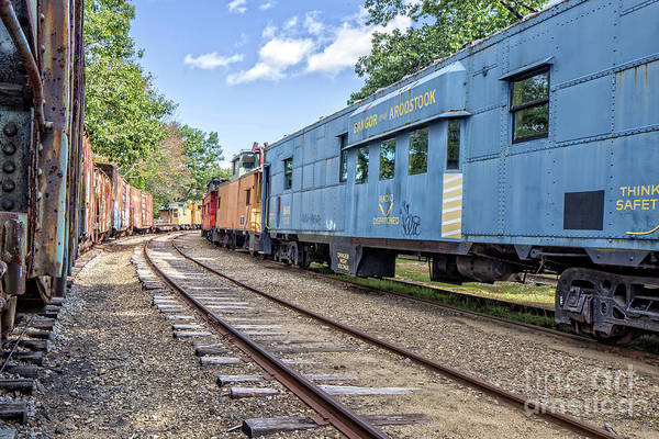 Wall Art - Photograph - Caboose Village Tilton New Hampshire by Edward Fielding