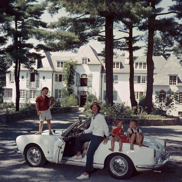 Sport Car Photograph - Cabot Family by Slim Aarons