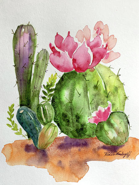 Painting - Cactus And Succulents by Hilda Vandergriff