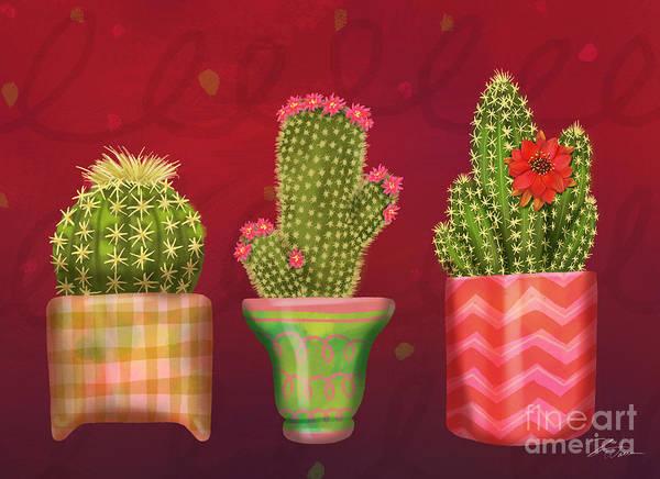 Mixed Media - Cactus Friends I by Shari Warren