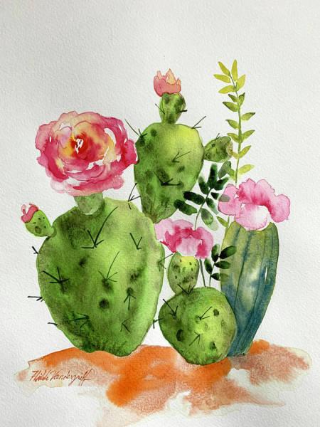 Painting - Cactus Patch by Hilda Vandergriff