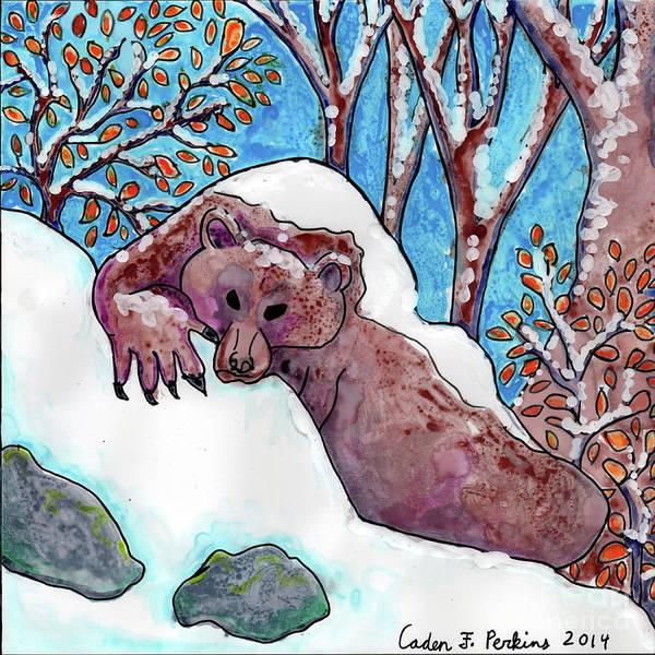 Painting - Caden's Bear 3 by Amy E Fraser and Caden Fraser Perkins