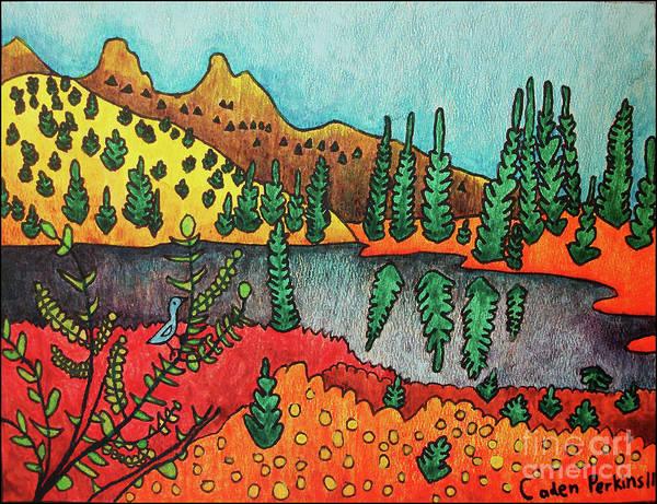 Painting - Caden's Landscape 1 by Amy E Fraser and Caden Fraser Perkins