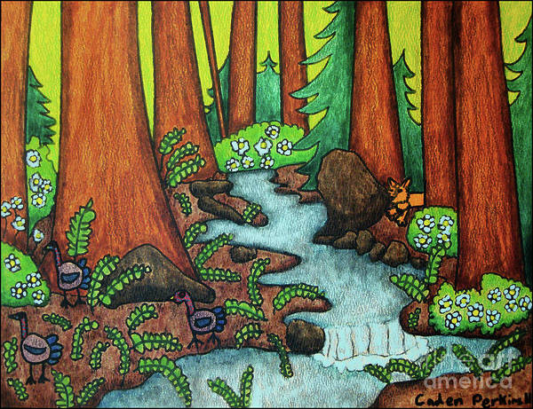 Painting - Caden's Landscape 2 by Amy E Fraser and Caden Fraser Perkins