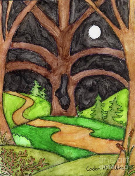 Painting - Caden's Landscape 4 by Amy E Fraser and Caden Fraser Perkins