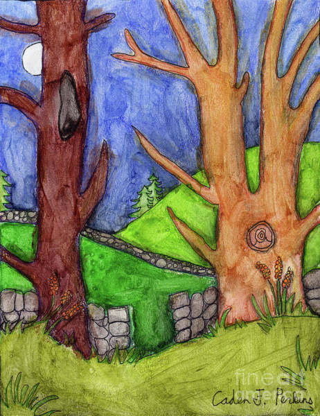 Painting - Caden's Landscape 5 by Amy E Fraser and Caden Fraser Perkins