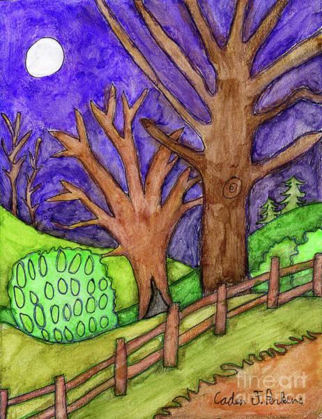 Painting - Caden's Landscape 6 by Amy E Fraser and Caden Fraser Perkins