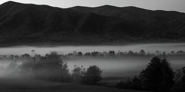 Photograph - Cades Cove Black And White 2 by Dan Sproul