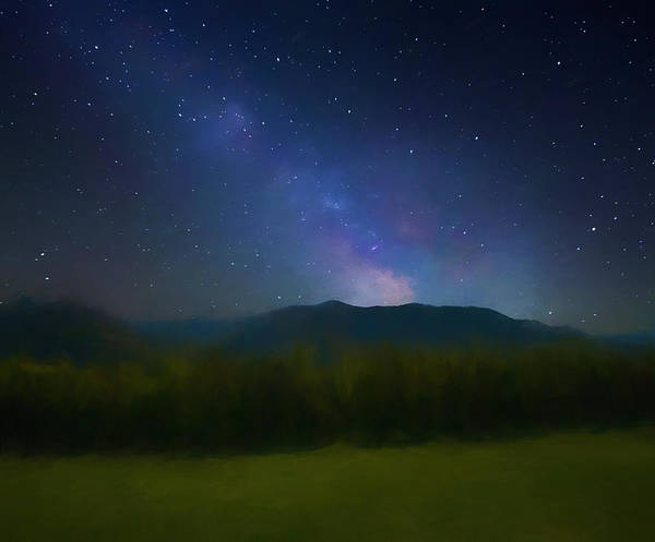 Mixed Media - Cades Cove Milky Way by Dan Sproul