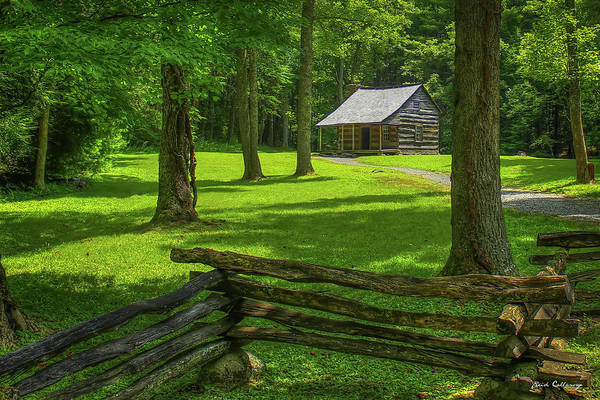 Photograph - Carter Shields Cabin Cades Cove Great Smoky Mountains Historic Architecture Art by Reid Callaway