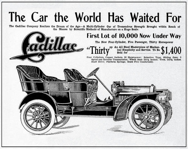 Wall Art - Photograph - Cadillac ... What The World Has Waited For ...  1908 by Daniel Hagerman