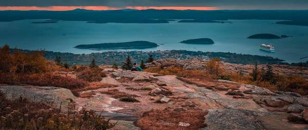 Photograph - Cadillac Mountain Panorama Sunrise by Dan Sproul