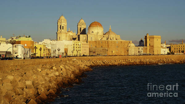 Photograph - Cadiz Cathedral From Southern Field Spain by Pablo Avanzini