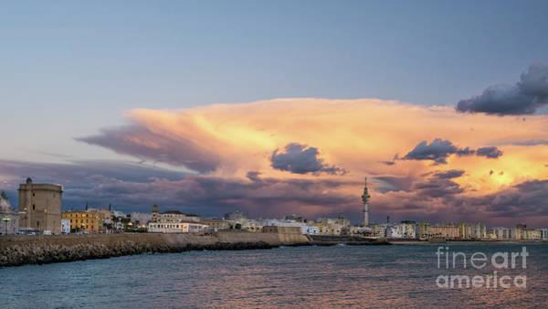 Photograph - Cadiz Skyline Under Cumulonimbus by Pablo Avanzini