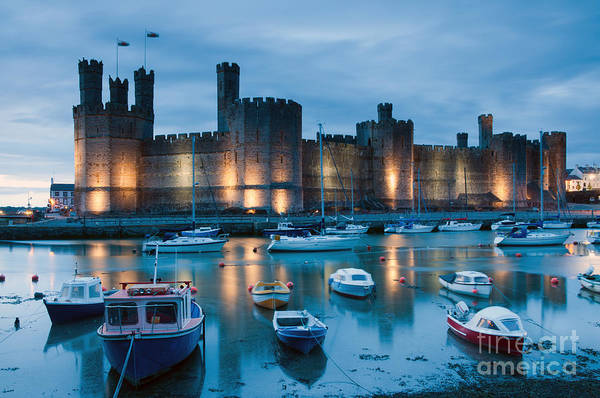 Historic Monument Wall Art - Photograph - Caernarfon Castle , North Wales by Stocker1970