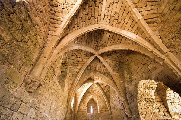 Roman Fort Photograph - Caesarea by Amite