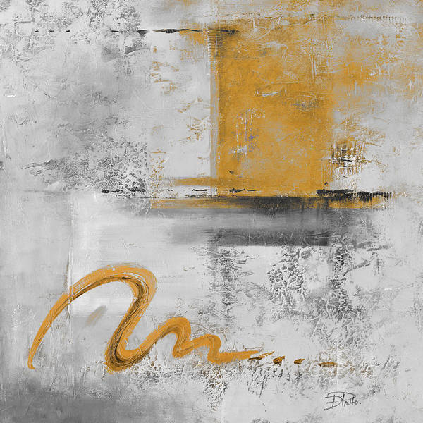 Wall Art - Painting - Caf� Au Gold Lait II by Patricia Pinto