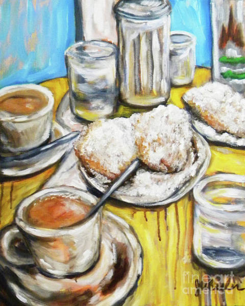 Wall Art - Painting - Cafe Au Lait by JoAnn Wheeler
