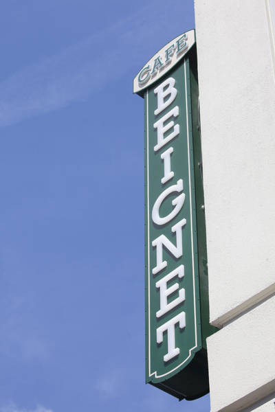 Wall Art - Photograph - Cafe Beignet Sign by Art Block Collections