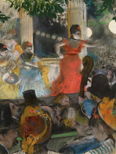 Wall Art - Painting - Cafe, Concert At Les Ambassadeurs, 1910 by Edgar Degas