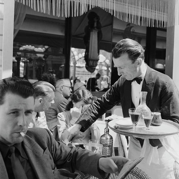 Terrace Photograph - Cafe Culture by Bert Hardy