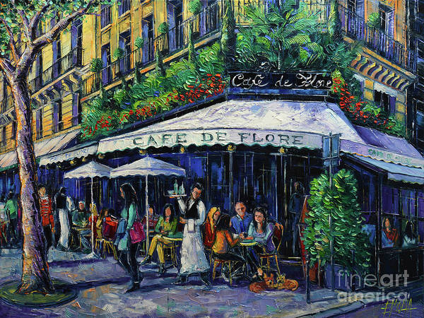 Wall Art - Painting - Cafe De Flore Paris by Mona Edulesco