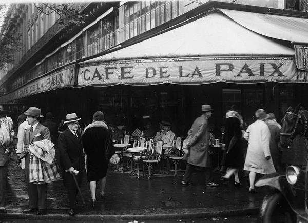 Sidewalk Cafe Photograph - Cafe De La Paix by Fpg