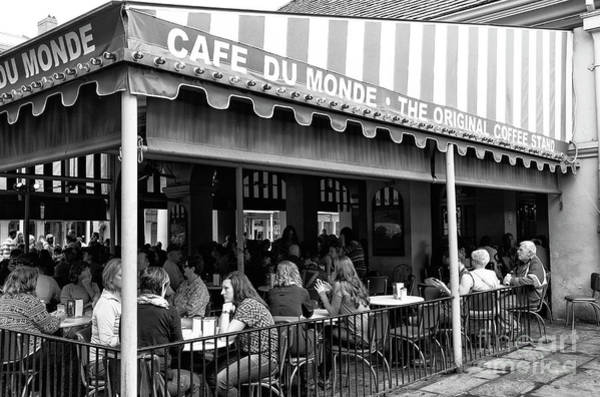Photograph - Cafe Du Monde Morning New Orleans by John Rizzuto