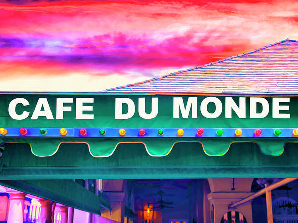 Photograph - Cafe Du Monde Sunset by Dominic Piperata