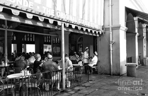 Photograph - Cafe Du Monde The Original Coffee Stand In New Orleans by John Rizzuto