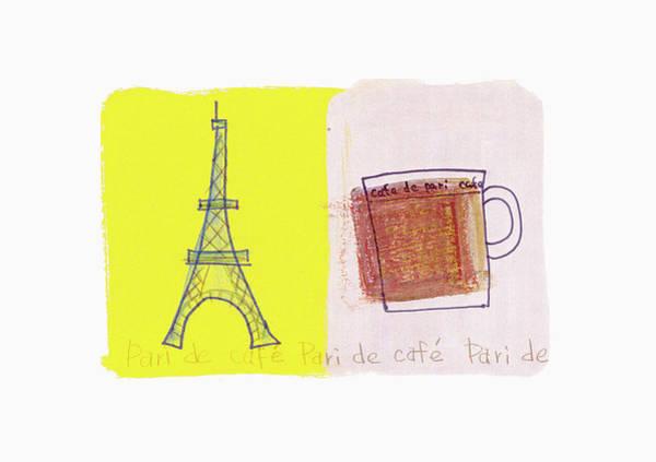 Pencil Drawing Digital Art - Cafe Image by Daj