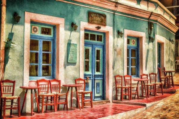 Painting - Cafe On Karpathos Island - Dwp3537801 by Dean Wittle