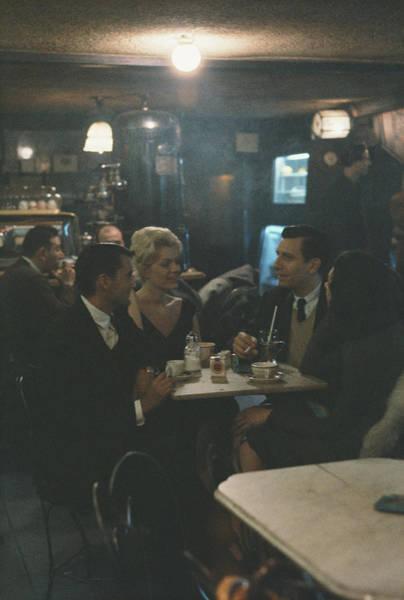 Greenwich Village Photograph - Cafe Rienzi by Arthur Swoger
