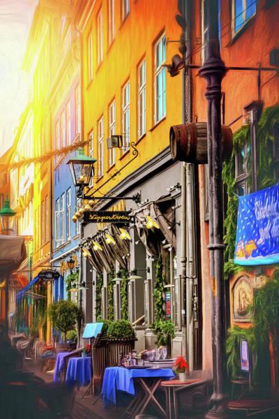 Scandinavian Photograph - Cafe Row Nyhavn Copenhagen  by Carol Japp
