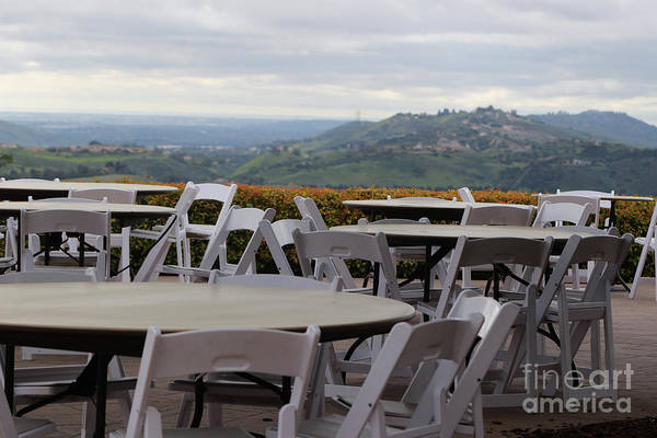 Photograph - Cafe Seating At Reagan Library Overlooking Simi Valley by Colleen Cornelius