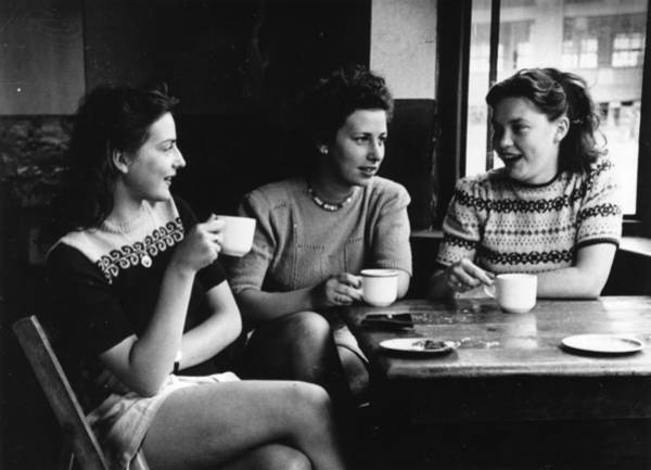 Adolescence Photograph - Cafe Society by Hulton Collection