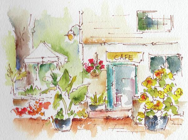 Painting - Cafe Toronto Botanical Gardens by Pat Katz