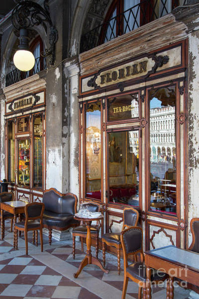 Photograph - Caffe Florian Venice Italy II by Brian Jannsen