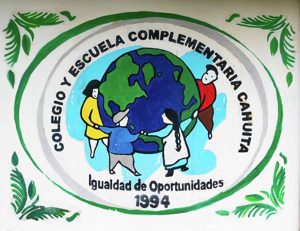 Cahuita Photograph - Cahuita Colegio Y Escuela by Norma Brandsberg