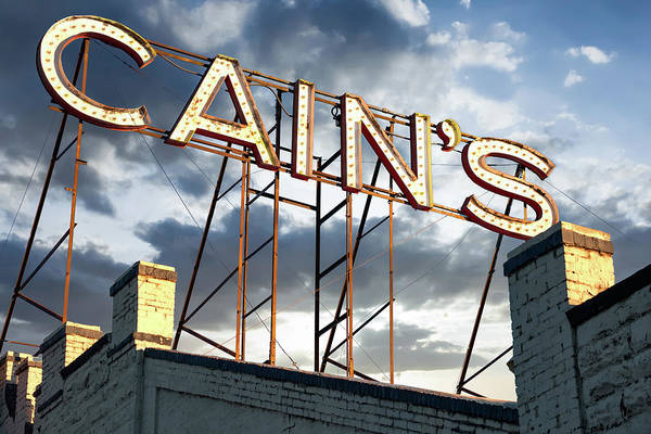 Photograph - Cain's Ballroom Vintage Neon At Sunrise - Tulsa Oklahoma Brady Arts District by Gregory Ballos