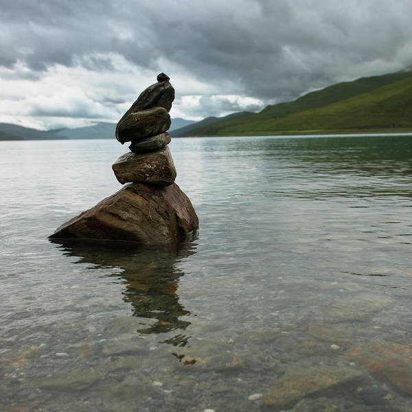 Wall Art - Photograph - Cairn Sitting In The Shallow Water by Keith Levit / Design Pics