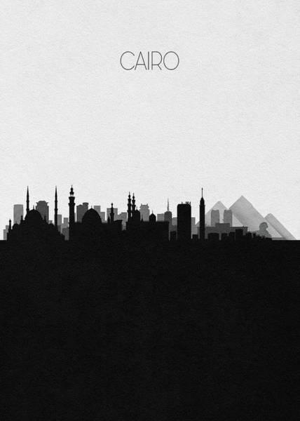 Mosque Digital Art - Cairo Cityscape Art by Inspirowl Design